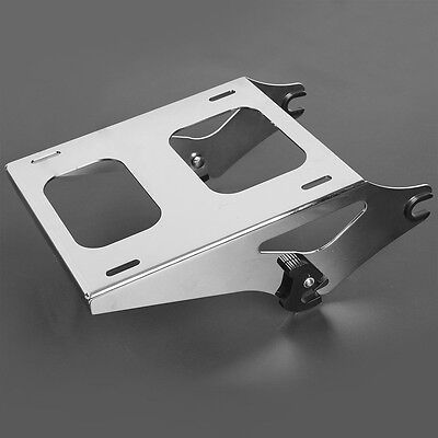 Detachable Two Up Tour Pak Pack Mount Luggage Rack For Harley Touring 2014-2017