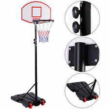 Panier de basket sur pied hauteu réglable de 165 à 215cmmobile avec des roues
