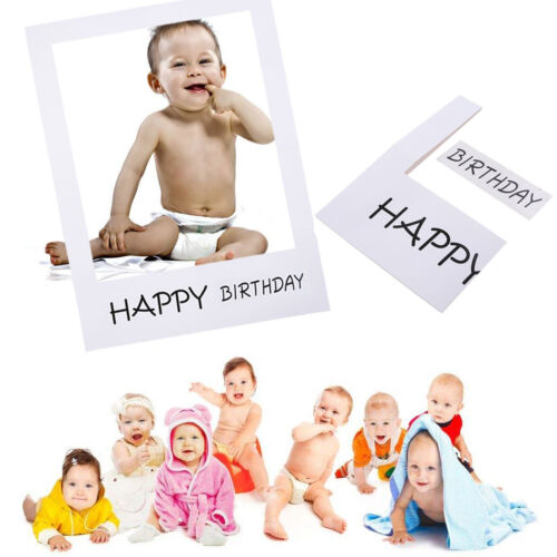 1st Birthday Bunting Garland Banners Baby Boys Girls Monthly Photo Props Decor