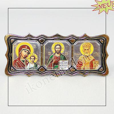 Auto - Ikone, GM von Kasan+ Jesus Christus+ Hl.Nikolaus 36274  6*6