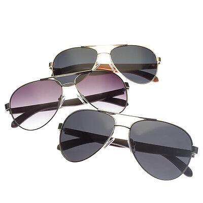 (Classic Retro Men Fashion Metal WOOD Aviator's Vintage Designer Sunglasses Black)