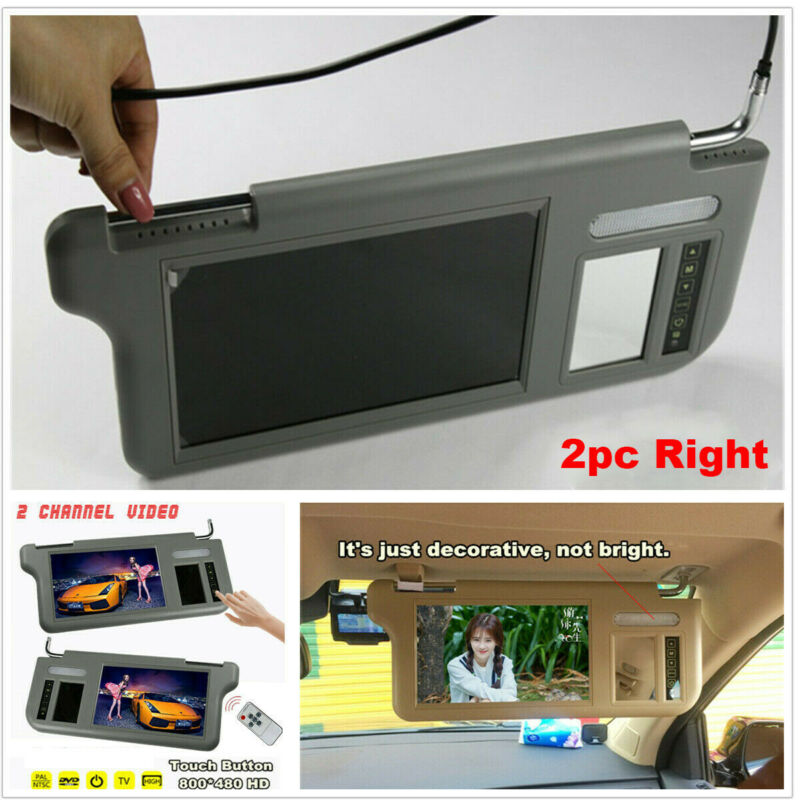 "Pair 7"" 2 Channel Video Car SunVisor LCD Monitor For RearView Camera&DVD/VCD/GPS"