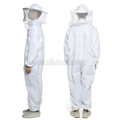 Xl Bee Keeper Suit Beehive Beekeeping Veil Protection Outfit Hat Sting Proof
