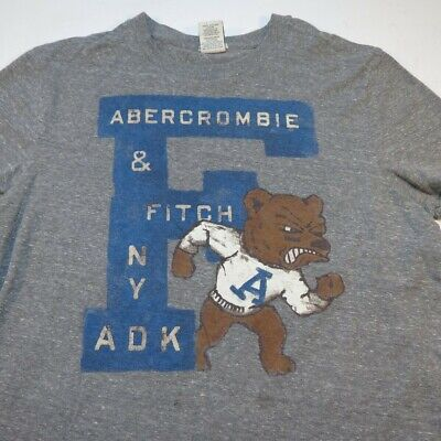 ABERCROMBIE & FITCH MUSCLE NY ADK BEAR TEE T SHIRT Sz Mens XL