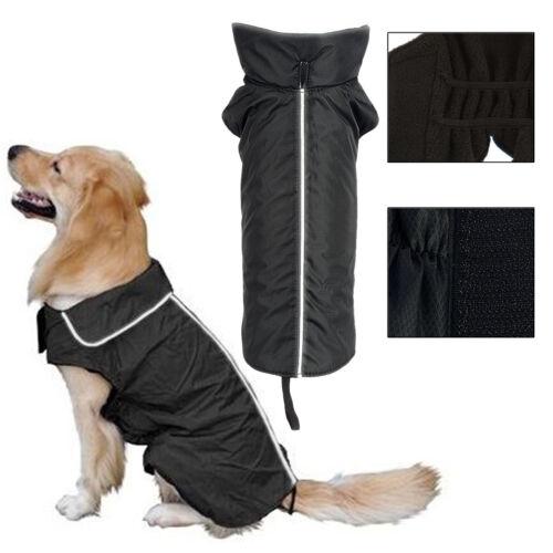 Wasserdicht Hunde Regenmantel Jacke Hund reflektierender Winter Warm Regenjacke