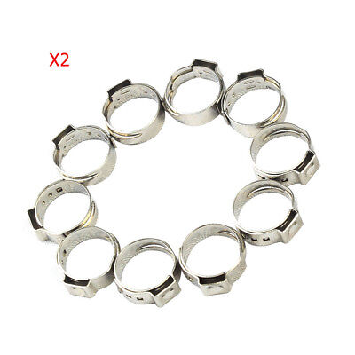 20 X 34 Pex Stainless Steel Clamp Cinch Rings Crimp Pinch Fitting New