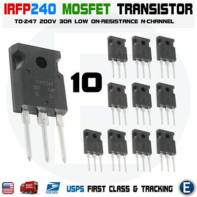 10pcs Irfp240 Power Mosfet 20a 200v 150w N-channel Transistor Irf240