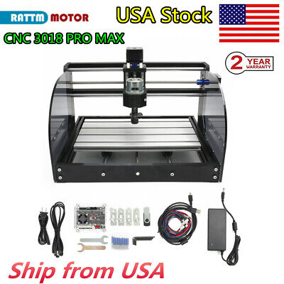 Us3018 Pro Max Cnc Router Grbl Diy Pcb Pvc Wood Engraver Laser Milling Machine