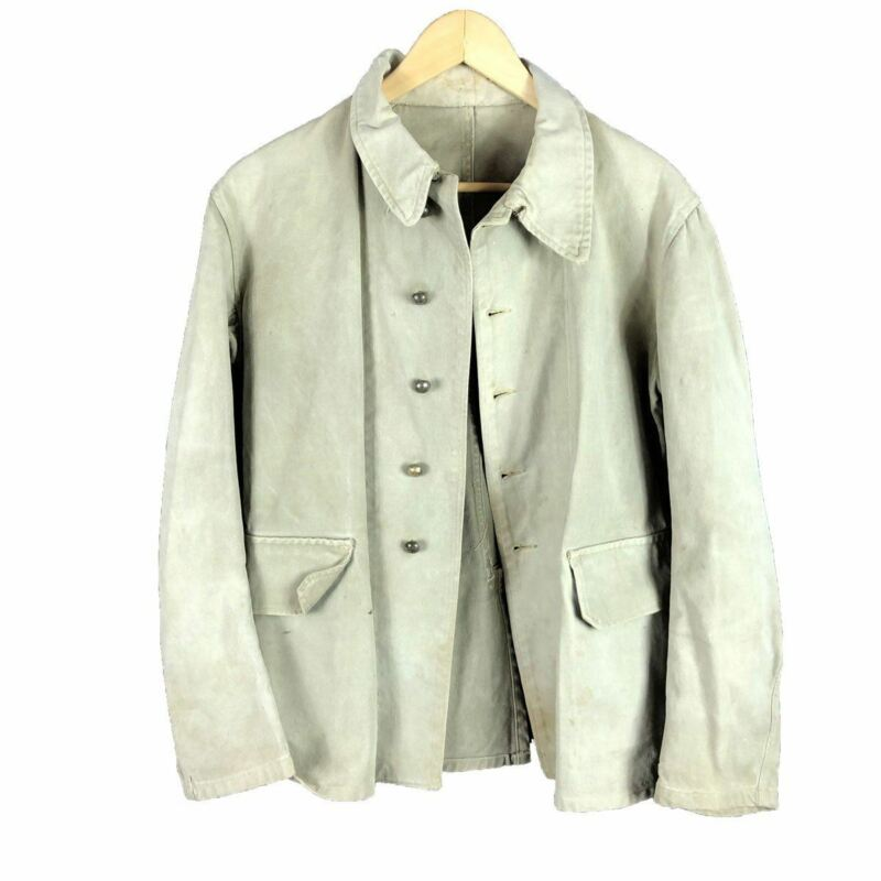 C1930 French Military Chore Jacket Sun Bleached