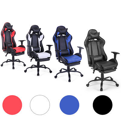 Racing Gaming Chair Ergonomic High Back Office Chair Swivel Pc Wlumbar Support