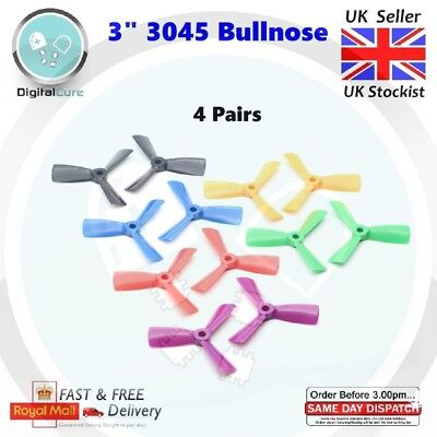 """4 Pairs Diatone 3"""" 3045 3-blade Propeller CW CCW for 1410 1306 1806 130 150 180"""