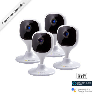 New Q-See QCW2MP-4 1080p Smart Surveillance Wi-Fi Cube Camera Mini USB 4 Pack