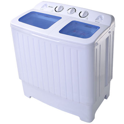 Small Mini Compact Twin Tub 17.6lb Washing Machine Washer Spin Spinner
