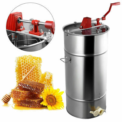 Large 2 Frame Stainless Steel Honey Extractor Beekeeping Equipment New