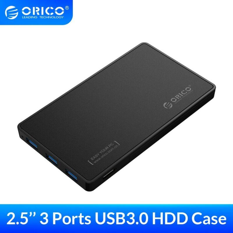 ORICO 2.5 inch HDD Enclosure USB3.0 to SATA3.0 HDD Case with 3 Ports USB3.0 HUB