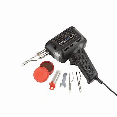 180 Watts Industrial Soldering Gun W 3 Soldering Tips Built-in Light Cool Grip