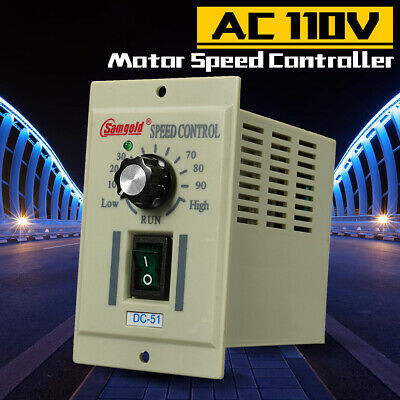 Ac 110v Phase Motor Speed Controller Adjustable Unit Variable For Dc-51 90v 400w