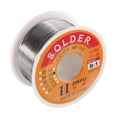 100g 6040 Tin Lead Roll Solder Wire Rosin Core Soldering 2 Flux Reel Tube Ad