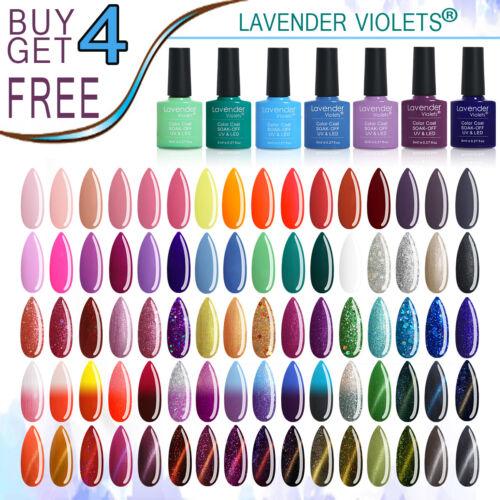 Lavender Violets 8ml Soak off UV LED Nail Gel Polish Color Base Top Coat Varnish