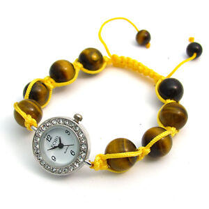 ECHO-Shamballa-Style-Watch-and-Bracelet-Set-Beautiful-Tigers-Eye-no-5