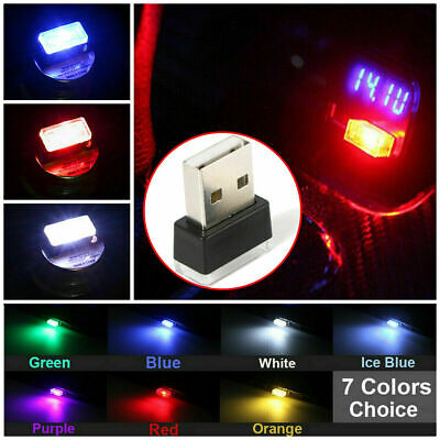 7 Colors Mini USB LED Wireless Lamp Car Atmosphere Light Colorful Accessories UK
