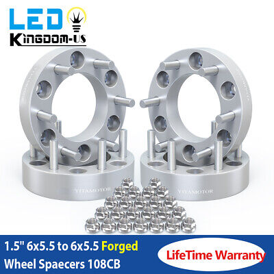 """4 x 1.5"""" Silver Wheel Spacers Adapters 6x5.5 to 6x5.5 For Toyota Tacoma 4Runner"""
