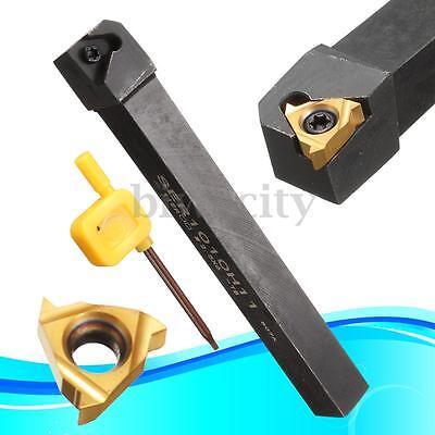 SER1010H11 10x100mm Lathe Threading Turning Tool Holder + 11ER 1/4'' AG60 Insert