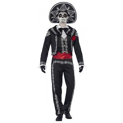 Mariachi Costume Adult Day of the Dead Dia de los Muertos Halloween Fancy Dress - Mariachi Costume For Men