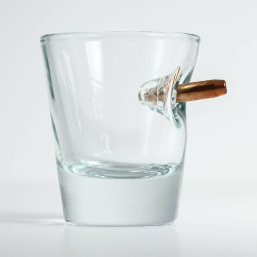 Original BenShot Bulletproof Shot Glass w/ Real Bullet Groomsmen Military Gift