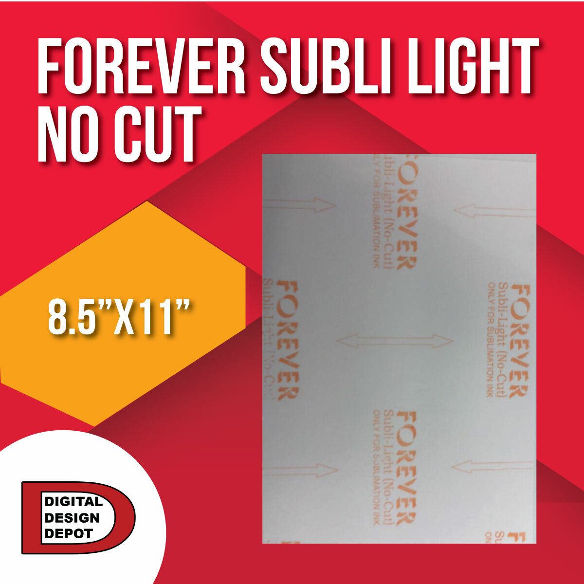 """Forever Subli Light  8.5""""x11"""" 5 Sheets FREE SHIPPING"""