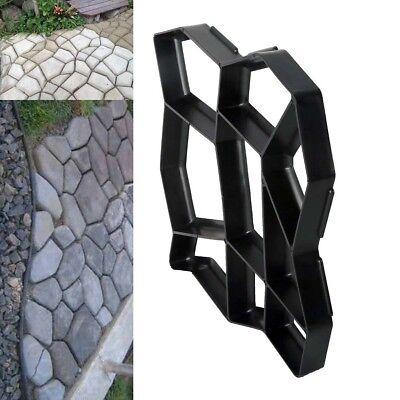 Diy Plastic Garden Path Maker Mold Cement Brick Mould 43X43cm