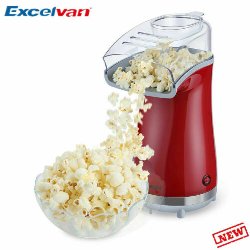 Air Popcorn Maker 16 Cups Oil-Free Home Popping Kitchen Movi