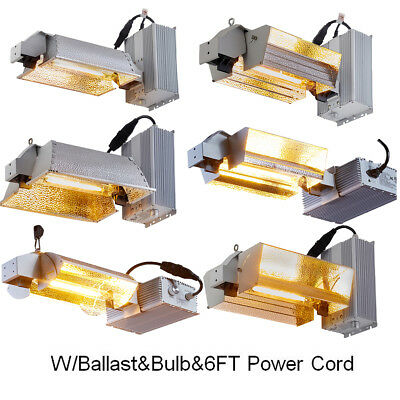 Hydroponic 1000W Watt Double Ended HPS Grow Light Fixture kit W/Bulb Indoor Grow