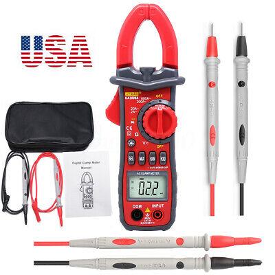 Pro Multimeter Tester Digital Handheld Clamp Meter Dmm Ce Ac Dc Volt Amp 600v