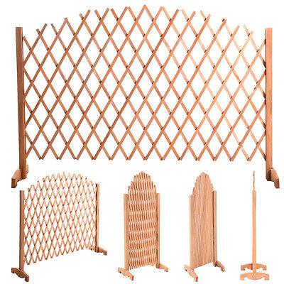 Expanding Trellis Wood Fence Growing Support Garden Screen Divider Freestanding