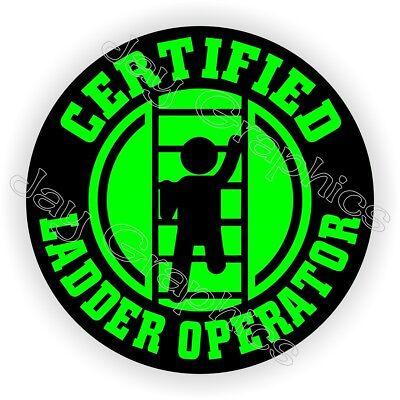 Funny Ladder Operator Hard Hat Sticker Decal Label Helmet Laborer Safety Foreman