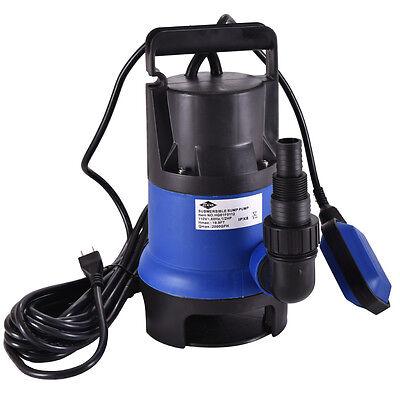 - Submersible Water Pump 1/2 HP 2000GPH Clean Clear Dirty Pool Pond Flood Drain