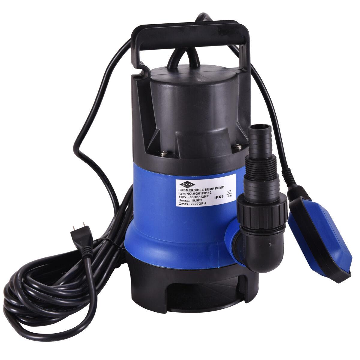 1/2 HP Submersible Water Pump 2000GPH Clean Swimming Pool Di
