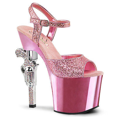 Rhinestone Stripper Heels (PLEASER Sexy 7