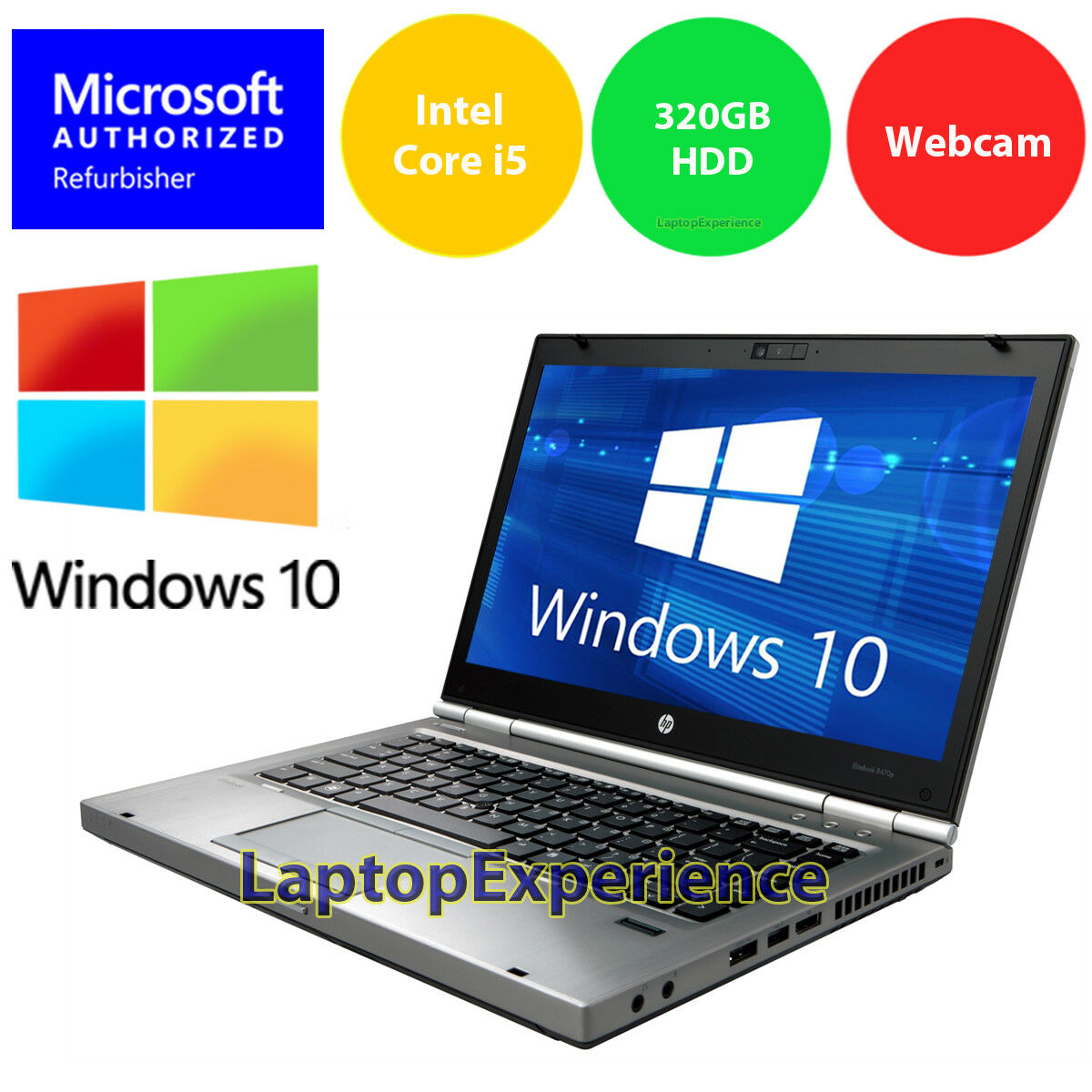 Details about HP LAPTOP ELITEBOOK 8470p i5 2 6GHz 4GB LED DVD WEBCAM  WINDOWS 10 WIN WiFi PC HD