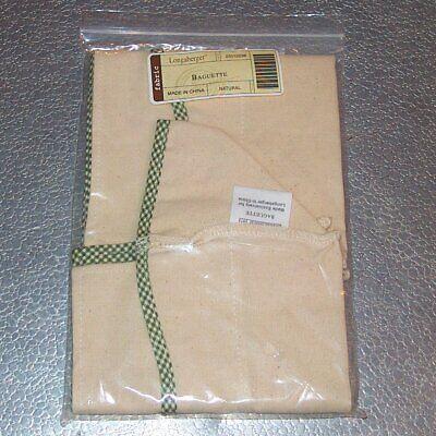 Longaberger Natural BAGUETTE Basket Liner ~ Brand New in Original Bag!