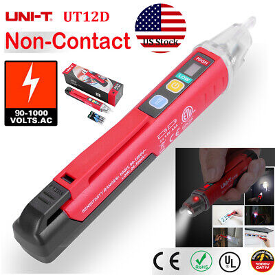 Uni-t Ut12d Led Non-contact Ac Electrical Tester Pen 901000v Voltage Detector