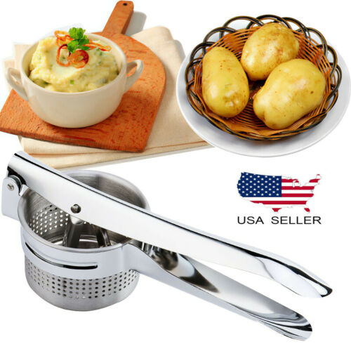 Stainless Steel Potato Ricer & No Lumps Potato Masher Masher Large Capacity US