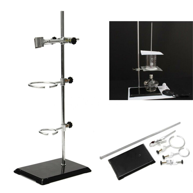 Laboratory Stands Support Iron+Lab Clamp Flask Clamp Condenser Clamp Fixing Kit