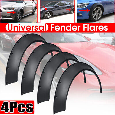 "4x 800mm 3.5"" Universal Flexible Car Fender Flares Extra Wide Body Wheel Arches"