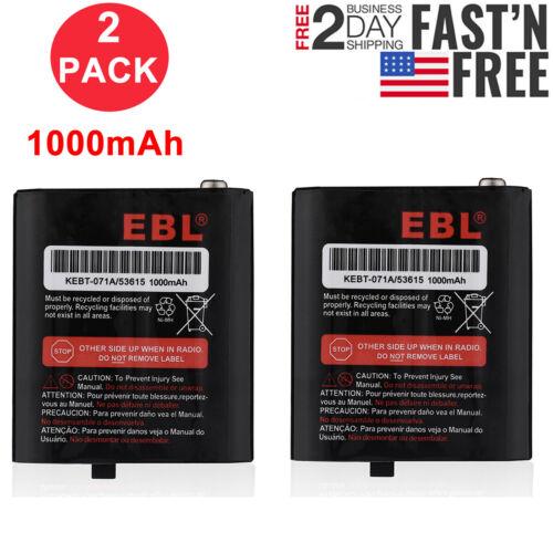 2PCS Battery for Motorola MR350 MJ270 T9500 T8500 MJ270 EM1000 53615 KEBT-071-D