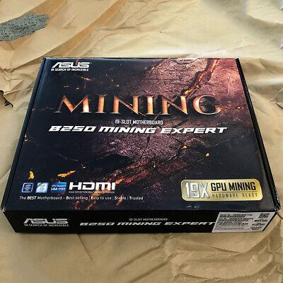 ASUS B250 Mining Expert LGA 1151 ATX Motherboard BTC 19 GPU NEW F/S 2