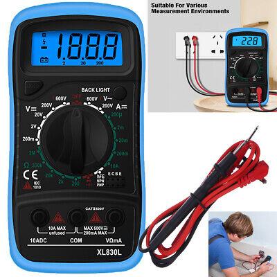 Digital Multimeter Ac Dc Voltmeter Ammeter Ohmmeter Volt Tester Meter Xl830l New