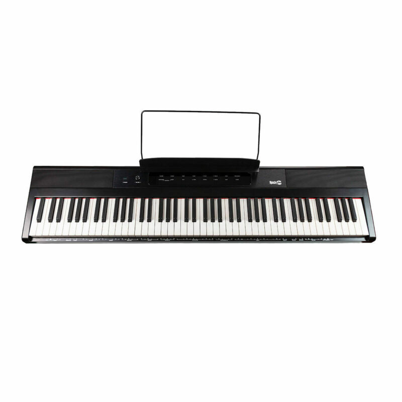 RockJam Digital Piano 88 Full Size Key Customisable Metronome in Black