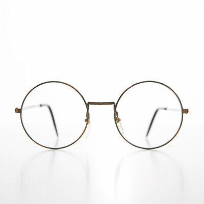 Klein Erwachsene Bronze Rund John Lennon Rahmen mit Klar Linse Balance - Yale
